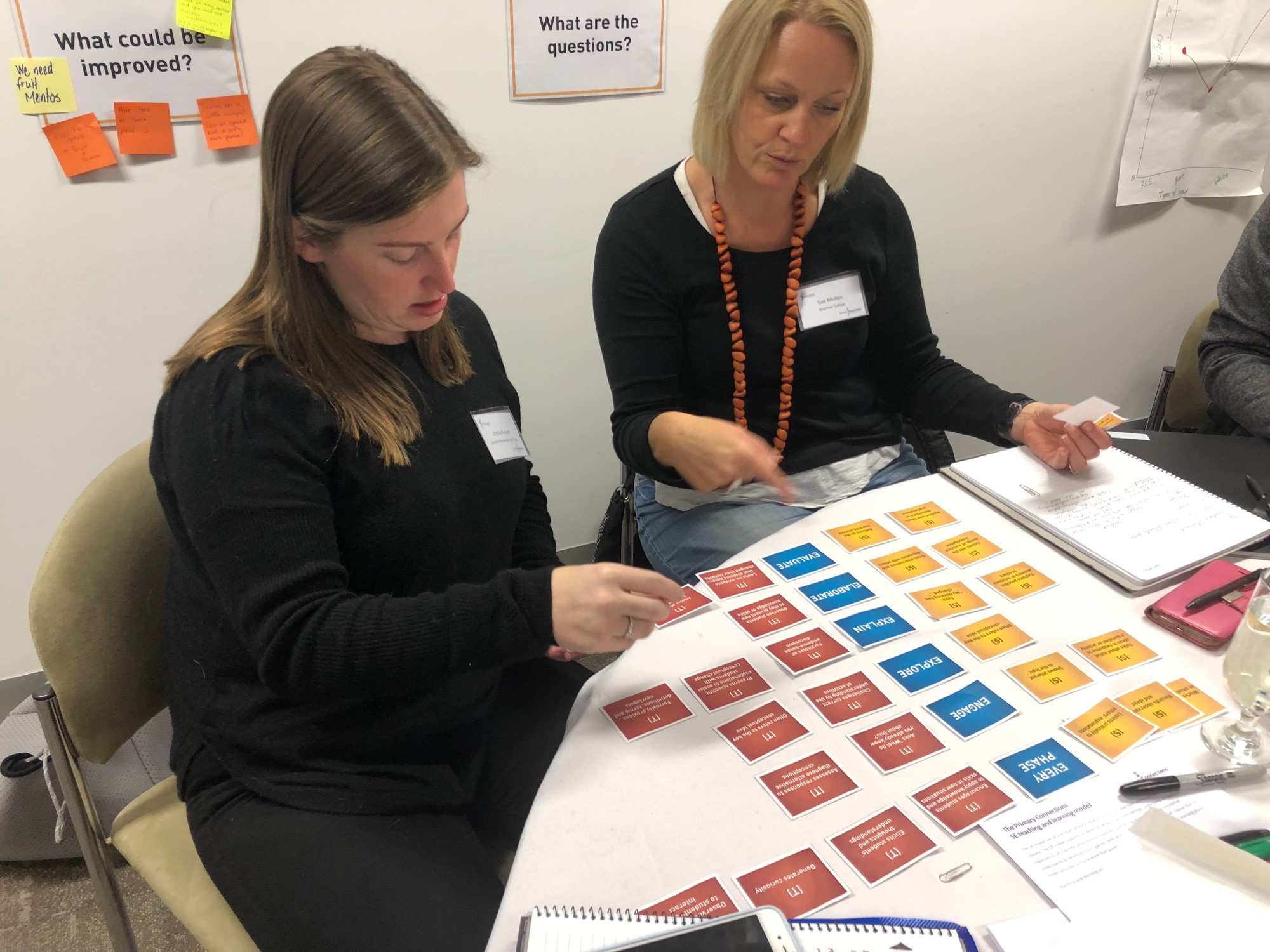 Image of teachers engaged in professional learning activities