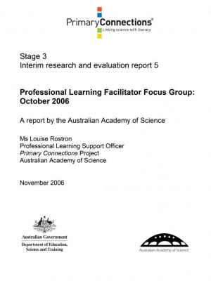 Professional Learning Facilitator Focus Group