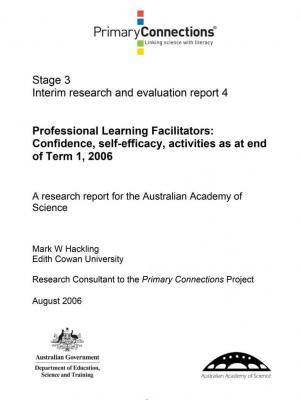 Professional Learning Facilitators: Confidence, self-efficacy, activities as at end of T1, 2006