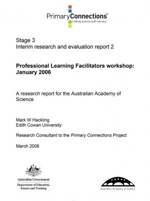 Professional Learning Facilitators workshop: January 2006