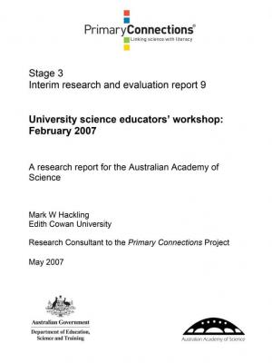 University science educators' workshop February 2007